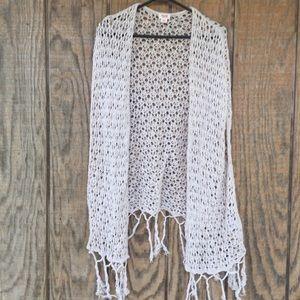 Mossimo crochet kimono swimsuit coverup medium
